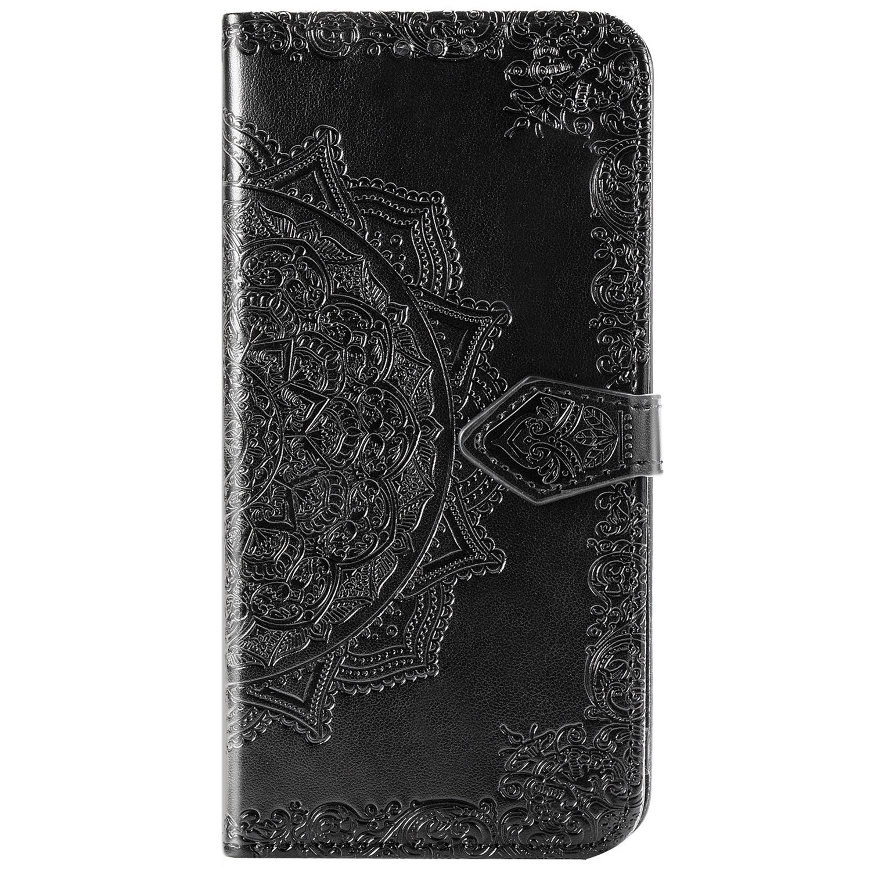 Mandala Booktype Motorola Moto G9 Plus - Zwart