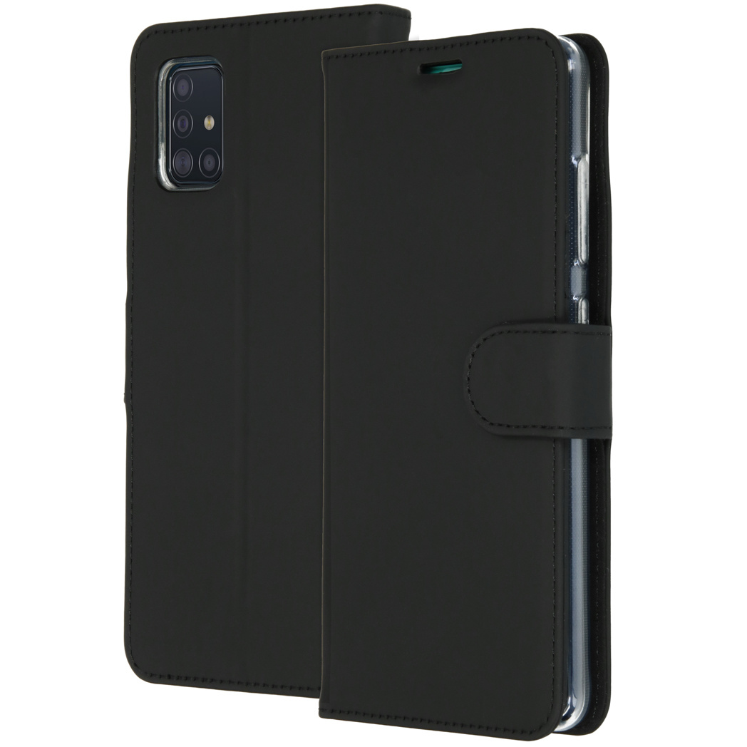 Accezz Wallet Softcase Booktype Samsung Galaxy A51 - Zwart