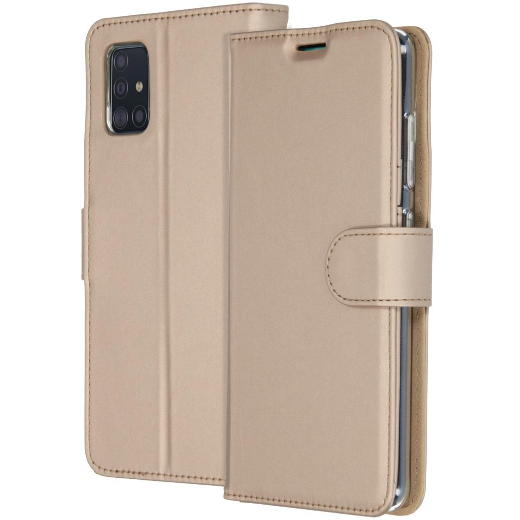 Accezz Wallet Softcase Booktype Samsung Galaxy A51 - Goud
