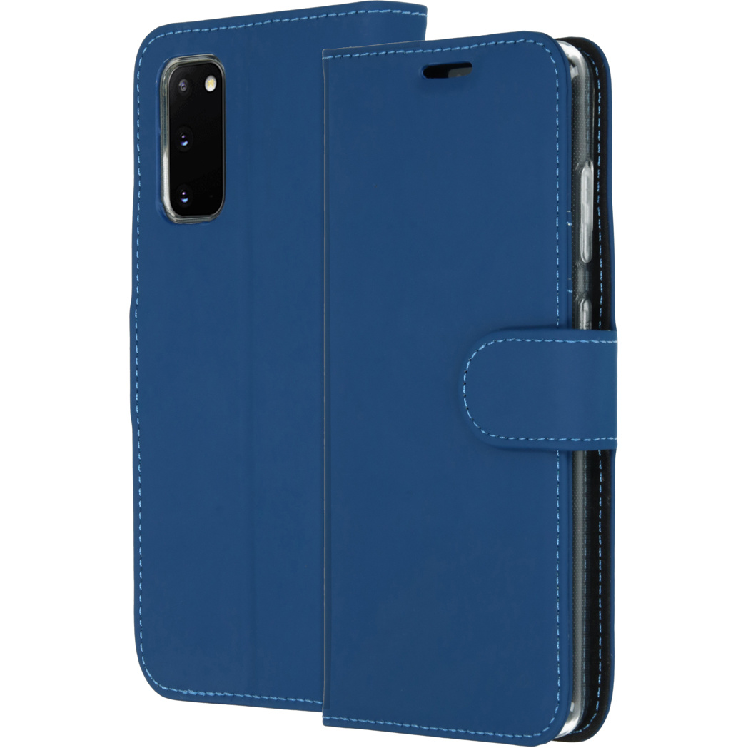 Accezz Wallet Softcase Booktype Samsung Galaxy S20 - Blauw