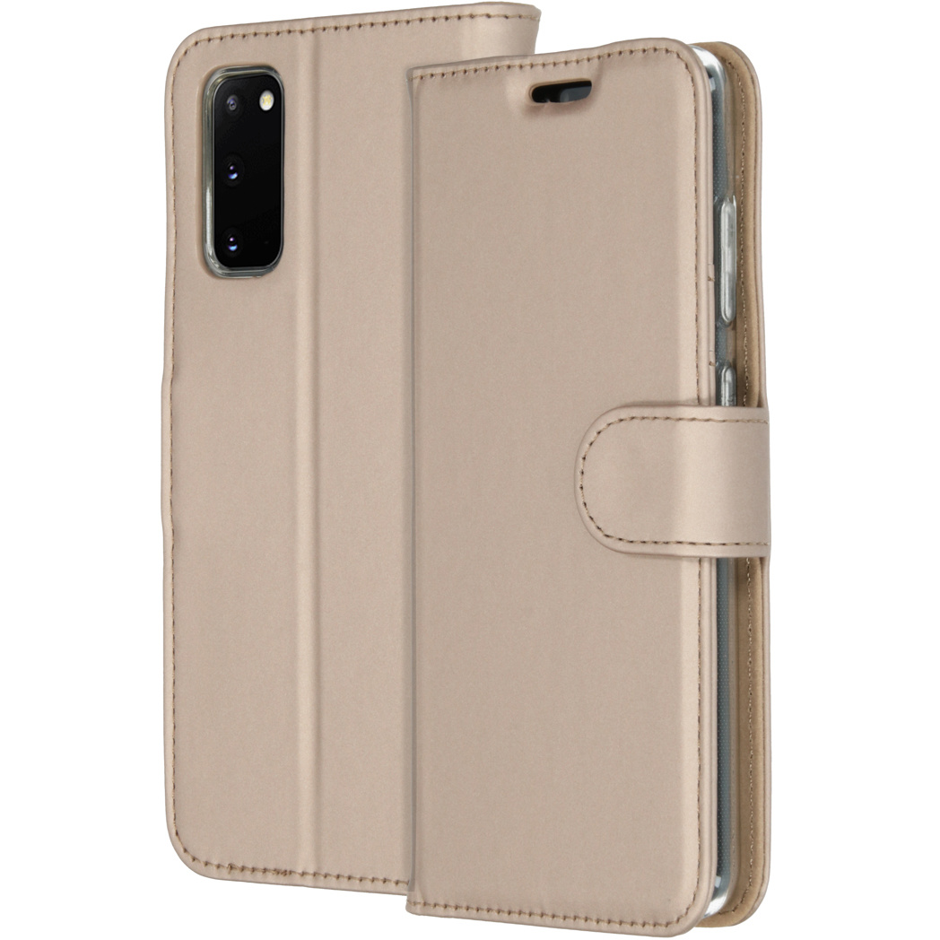 Accezz Wallet Softcase Booktype Samsung Galaxy S20 - Goud