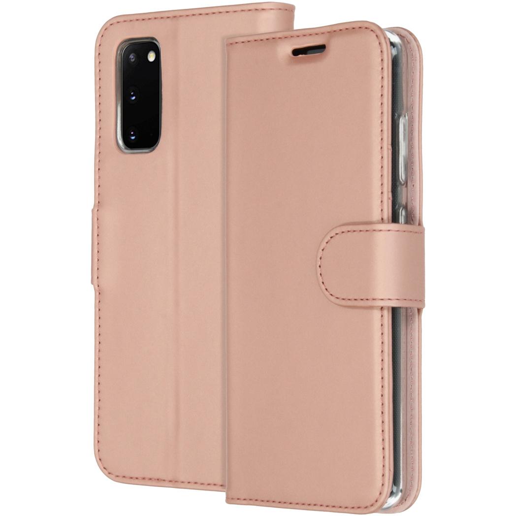 Accezz Wallet Softcase Booktype Samsung Galaxy S20 - Rosé Goud