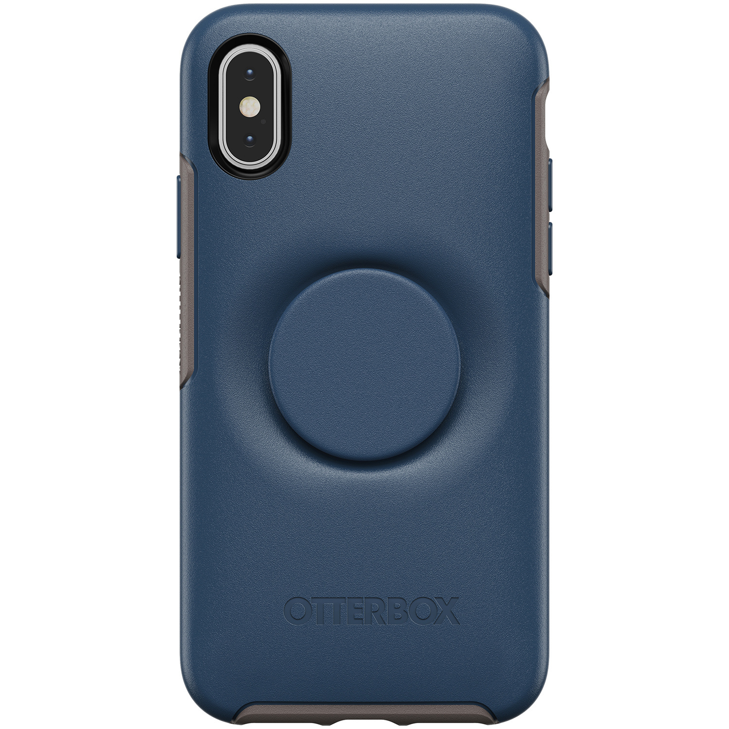 OtterBox Otter + Pop Symmetry Backcover iPhone Xs / X - Blauw
