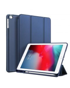 Accezz Smart Silicone Bookcase voor de iPad (2018) / (2017) / Air (2) - Blauw