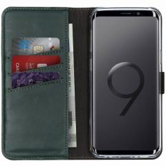 Selencia Echt Lederen Booktype Samsung Galaxy S9