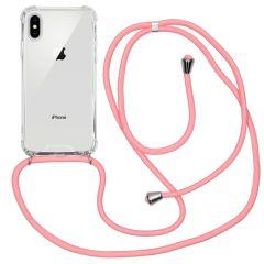 iMoshion Backcover met koord iPhone Xs / X - Roze