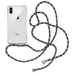 iMoshion Backcover met koord iPhone Xs / X - Groen