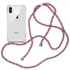 iMoshion Backcover met koord iPhone Xs / X - Paars