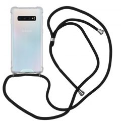 iMoshion Backcover met koord Samsung Galaxy S10 - Zwart
