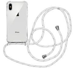 iMoshion Backcover met koord iPhone Xs / X - Wit Zilver