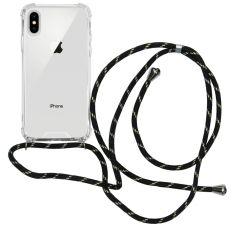 iMoshion Backcover met koord iPhone Xs / X - Zwart Goud