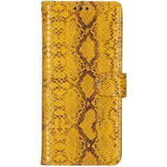 Slangenprint Booktype Samsung Galaxy A70 - Geel