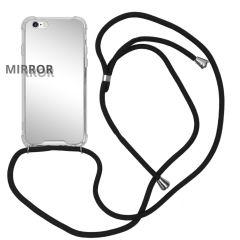 iMoshion Mirror Backcover met koord iPhone 6 / 6s - Zilver
