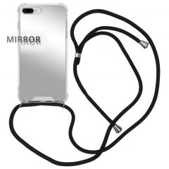 iMoshion Mirror Backcover met koord iPhone 8 Plus / 7 Plus - Zilver