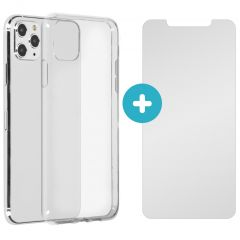 iMoshion Softcase Backcover + Glass Screenprotector iPhone 11 Pro Max