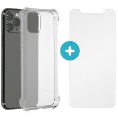 iMoshion Anti-Shock Backcover + Glass Screenprotector iPhone 11 Pro