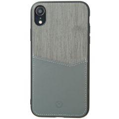 Valenta Card Slot Backcover iPhone Xr - Grijs