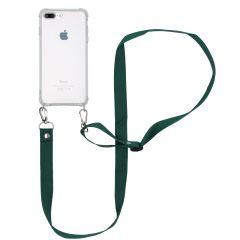 iMoshion Backcover met koord - Nylon iPhone 8 Plus / 7 Plus - Groen
