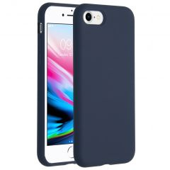 Accezz Liquid Silicone Backcover iPhone SE (2020) / 8 / 7 - Blauw