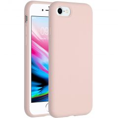 Accezz Liquid Silicone Backcover iPhone SE (2020) / 8 / 7 - Roze