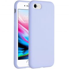 Accezz Liquid Silicone Backcover iPhone SE (2020) / 8 / 7 - Paars
