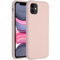 Accezz Liquid Silicone Backcover iPhone 11 - Roze
