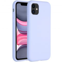 Accezz Liquid Silicone Backcover iPhone 11 - Paars