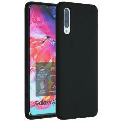 Accezz Liquid Silicone Backcover Samsung Galaxy A70 - Zwart