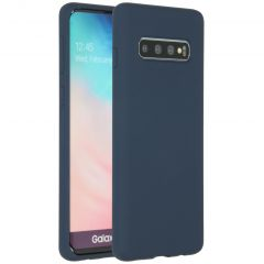 Accezz Liquid Silicone Backcover Samsung Galaxy S10 - Blauw