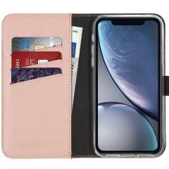 Selencia Echt Lederen Booktype iPhone Xr - Roze