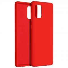 Accezz Liquid Silicone Backcover Samsung Galaxy A71 - Rood