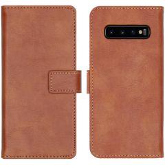 iMoshion Luxe Booktype Samsung Galaxy S10 - Bruin