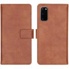 iMoshion Luxe Booktype Samsung Galaxy S20 - Bruin