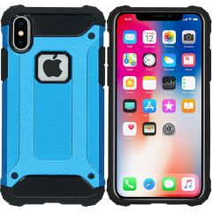 iMoshion Rugged Xtreme Backcover iPhone X - Lichtblauw