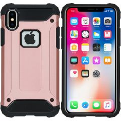 iMoshion Rugged Xtreme Backcover iPhone X - Rosé Goud
