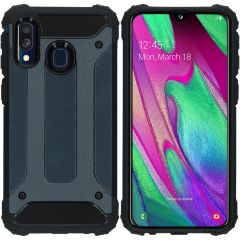 iMoshion Rugged Xtreme Backcover Samsung Galaxy A40 - Donkerblauw