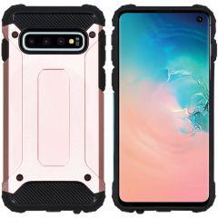 iMoshion Rugged Xtreme Backcover Samsung Galaxy S10 - Rosé Goud