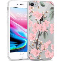 iMoshion Design hoesje iPhone SE (2020) / 8 / 7 / 6s - Bloem - Roze