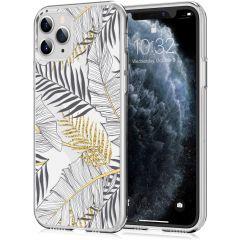 iMoshion Design hoesje iPhone 11 Pro - Bladeren - Zwart / Goud