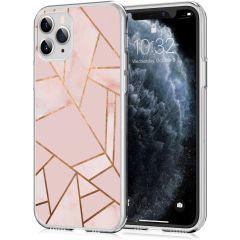 iMoshion Design hoesje iPhone 11 Pro - Grafisch Koper - Roze / Goud