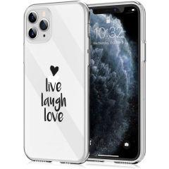 iMoshion Design hoesje iPhone 11 Pro - Live Laugh Love - Zwart