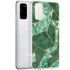 iMoshion Design hoesje Galaxy S20 - Grafisch Koper - Groen / Goud