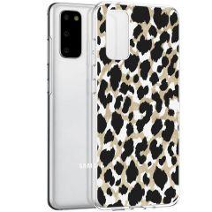 iMoshion Design hoesje Samsung Galaxy S20 - Luipaard - Goud / Zwart