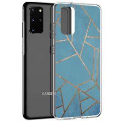 iMoshion Design hoesje Galaxy S20 Plus - Grafisch Koper - Blauw
