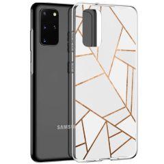 iMoshion Design hoesje Samsung Galaxy S20 Plus - Grafisch Koper - Wit