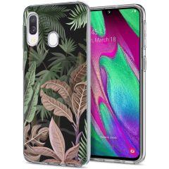iMoshion Design hoesje Samsung Galaxy A20e - Jungle - Groen / Roze