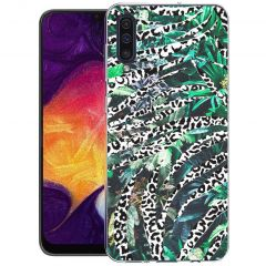 iMoshion Design hoesje Galaxy A50 / A30s - Jungle - Wit / Zwart