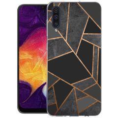 iMoshion Design hoesje Galaxy A50 / A30s - Grafisch Koper - Zwart
