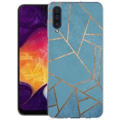 iMoshion Design hoesje Galaxy A50 / A30s - Grafisch Koper - Blauw