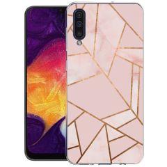 iMoshion Design hoesje Galaxy A50 / A30s - Grafisch Koper - Roze